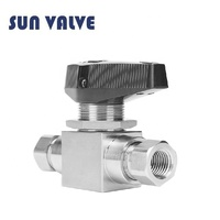 High pressure swagelok type 2 way 3 way manual stainless steel 1 inch ball valve
