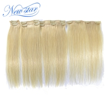100% virgin human hair Blonde #613 color clip in hair extension