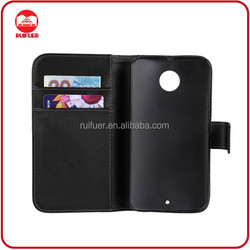 Manufacturer Wholesale With Card Holder Book Style Pouch Stand Wallet Flip Moto X Leather Case