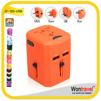 2015 Promotion Wontravel RoHS CE USA voltage plug adapter