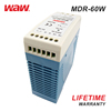 WODE Slim Waterproof Electronic Din Rail Switching Power Supply 12V 5A 60W