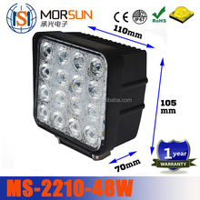 China factory! High power led working light, 48watt led work lamp, 48w 4000 lumen 12v square 48w led worklights
