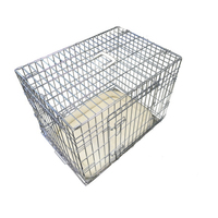 "30"" Deluxe 2 Doors silver Dog Cage with Metal Tray"