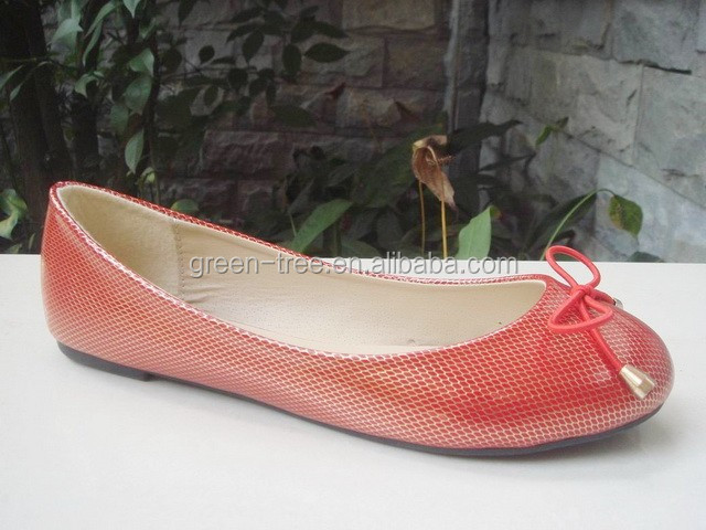 2015 latest lady design red wedding flat guangzhou shoes shops