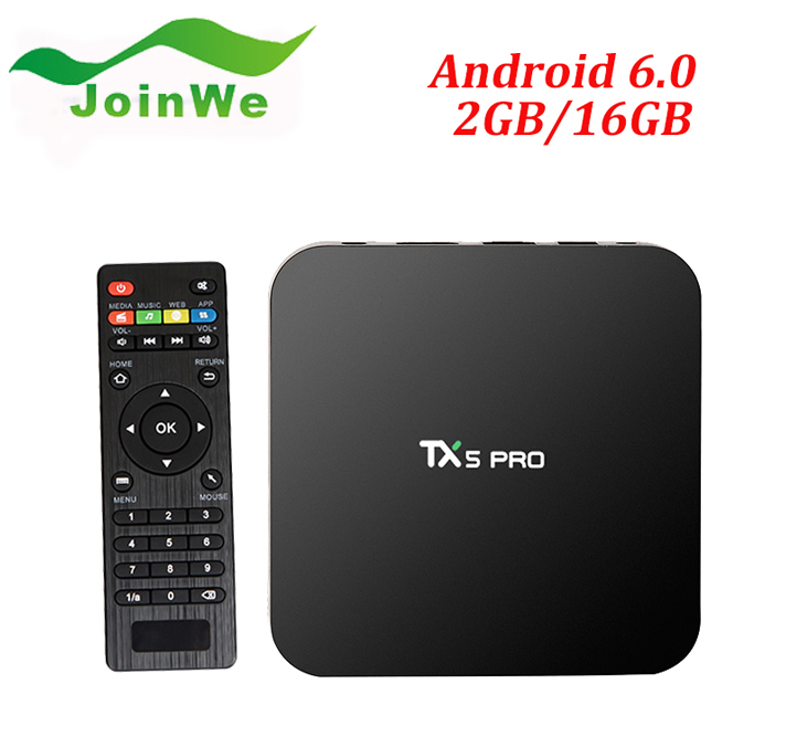 2016 wholesale Wechip TX5 PRO android 6.0 Amlogic S905X 2G 16G tv box xbmc full hd 1080p satellite receiver software upgrade