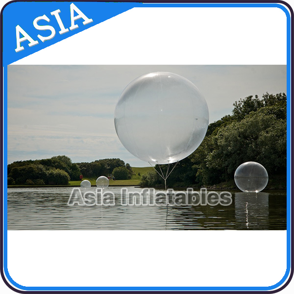 Transparent PVC Water Giant Infaltable Balloon flying in the sky for funny
