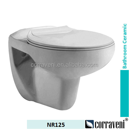 cheap price sanitary ware ceramic wall hung toilet NR125