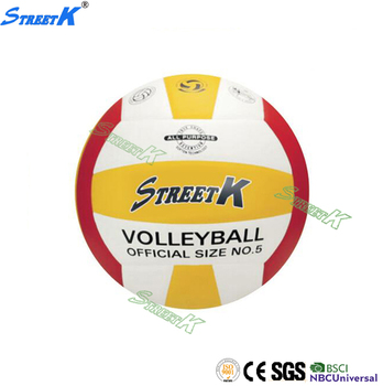 STREETK Brand PU used volleyballs custom your own white and red color volley ball