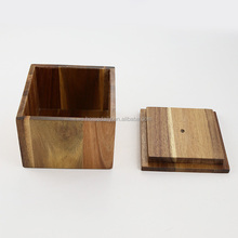 Kitchen Wood Storage Container with Lid