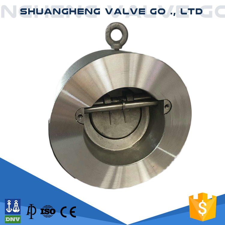 High quality stainless steel double flanged ends wafer check valve