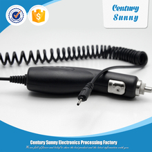 Mobile phone use , electric type banana shape car charger with spring cable