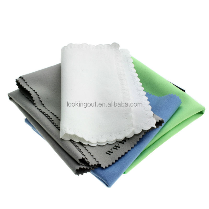 logo picture customising microfiber clean cloth fabric