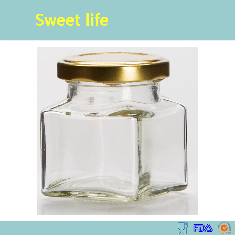 1.5 oz Square Mini Glass Jars with Gold Lids and Labels samples FREE