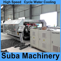 Corrugated sewage pipe machine