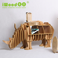 Animal Sharp Wooden Rhino DIY Display Table
