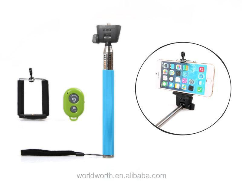 Hot sell monopod selfie stick Monopod kingwon cable take pole bluetooth selfie stick