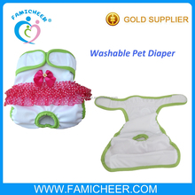 Famicheer Washable Waterproof Cloth Dog Diaper for Female