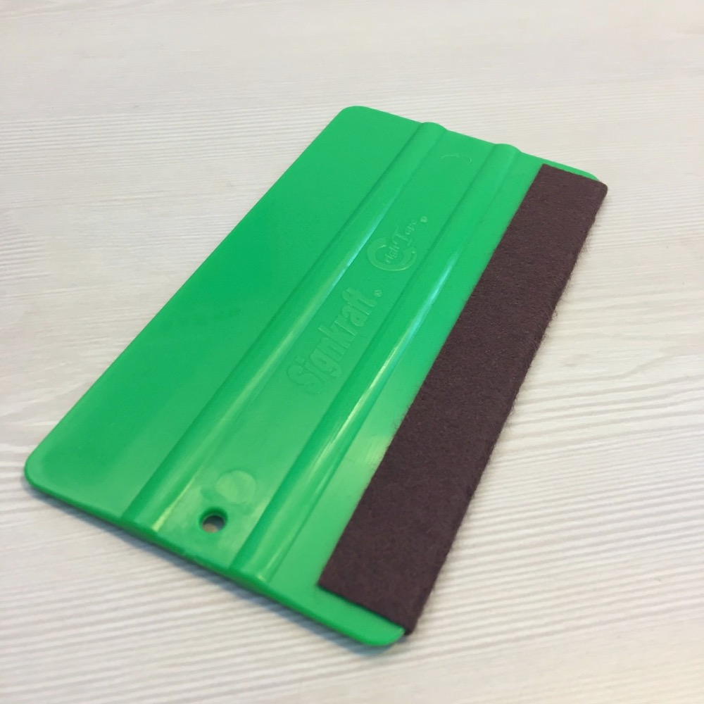 2016 Taiwan made hot new product plastic squeegee with black fabric wrap for window, cars