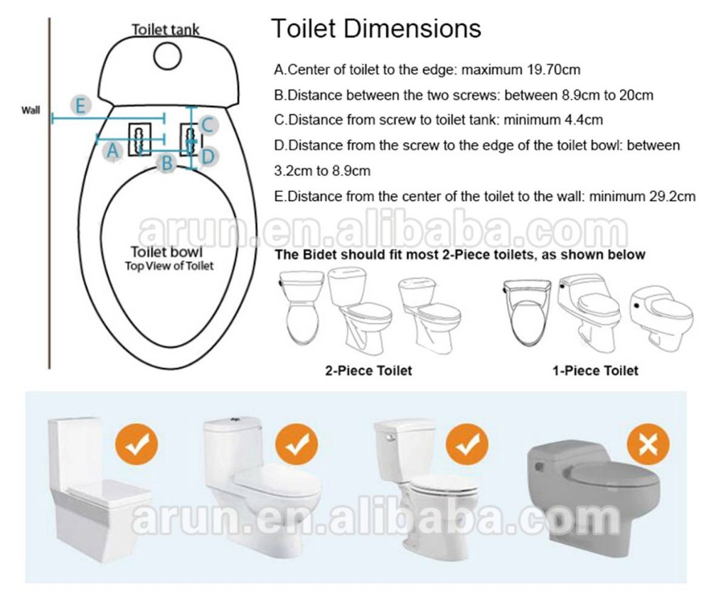 Manual Bio Hyjet bidet with double nozzles AMI610