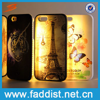 Flashlight Connect Mobile Phone Case Calling Sense LED Flash Light Case For iphone 6 Charge USB