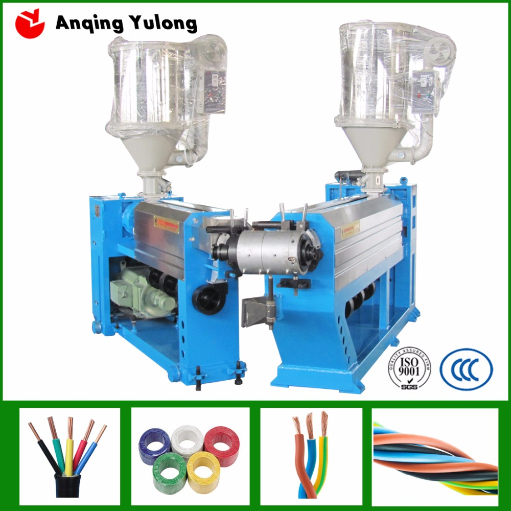 abrasion plastic wire coating extrusion machine/algeria popular electric cable production line
