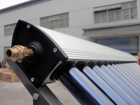Heat Pipe Solar Collector / Solar Water Heater 10tubes/panel, High Quality Hot Water Heater