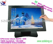 15'' all in one touch pc with Intel dual core D525/2G RAM/320G HHD/wifi build in/1.8HZ