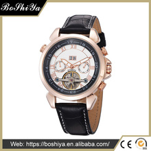 Luxury Men Automatic Mechanical Watch Genuine Leatherwatch Mechanical Movement