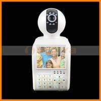 3.5 Inch LCD Color Display P2P Wireless IP Camera Support 32GB TF Card 32GB USB Flash Record