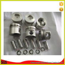Excavator engine spare parts 6HE1 piston set pin for I suzu engine