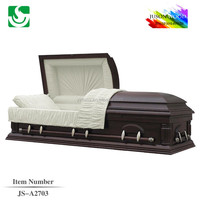 Darkpurple white interior Twist lin casket