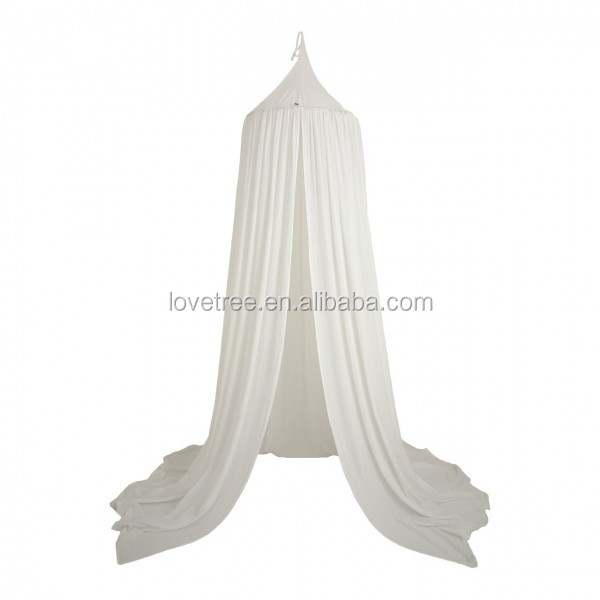 Lovetree CE Approved Cotton Mosquito Net Bed Canopy White Teepee and Canopy for Girls Images