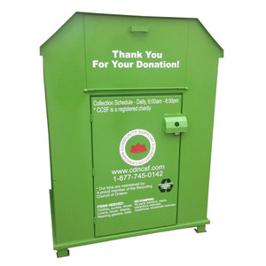 Donation Box Clothing Bin Book Recycling Container