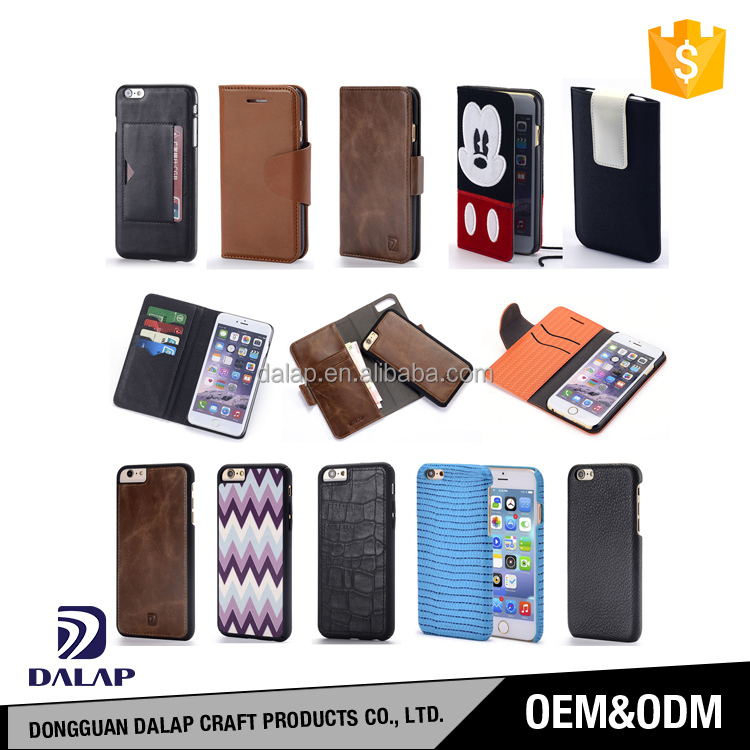 for iphone 6 7 leather case supplier