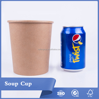 Customized Print High Quality Food Grade Kraft Paper Soup Cups