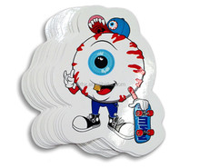 Clear Epoxy Vinyl stickers PVC cartoon Water Oil Moisture-proof rolled package