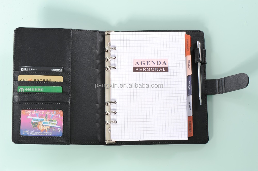 china supplier A4 leather compendium, PU portfolio, file folder