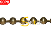 Antiqued Brass 2mm Ball Chain