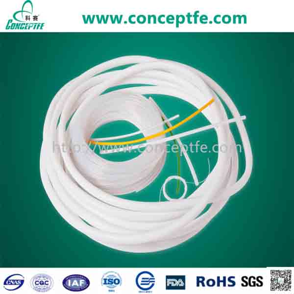 PTFE tubing teflon lined hose natural color