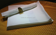 100% cotton satin band white table napkins folding design