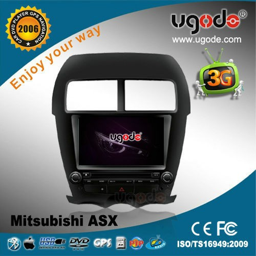 ugode MITSUBISHI ASX double din car DVD GPS with 3G internet