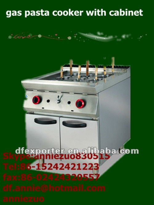 Free Standing Gas Pasta Cooker with Cabinet