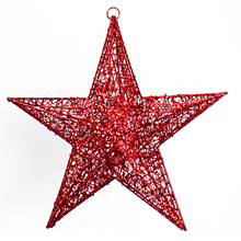 Best price outdoor lighted christmas tree decorations Glitter flashing star