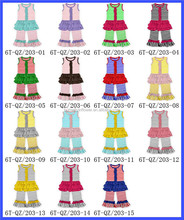 Wholesale Fashion Korean children clothing newborn Baby Girl 2015 Spring Autumn Ruffle Pants Outfits Girls Boutique Clothing