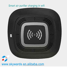 2016 new designed wireless charging air purifier used in car or at home