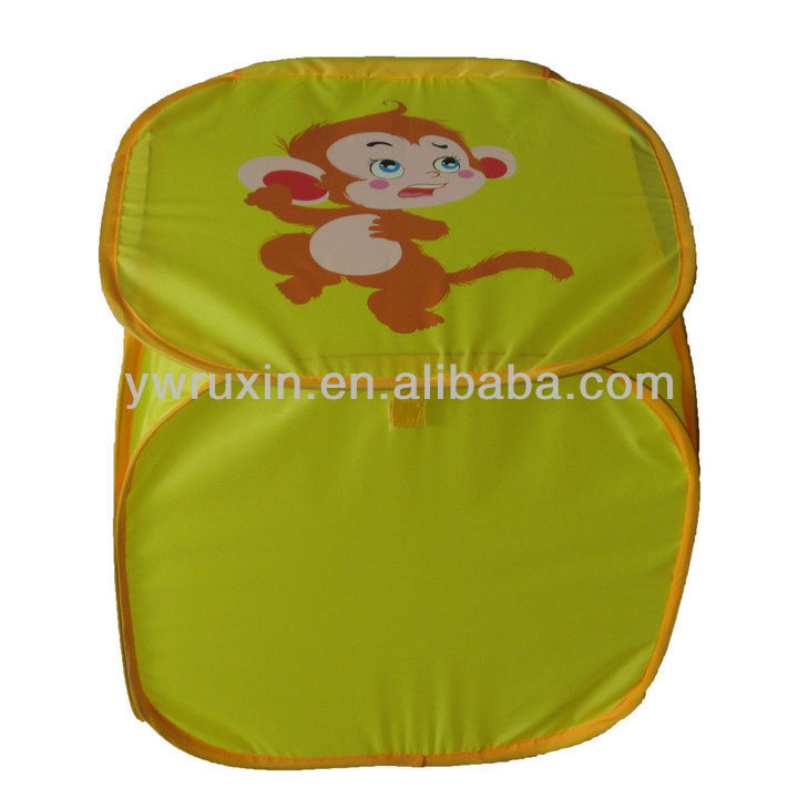 pop up monkey folding kid's toy and cloth laundry basket /pop up toy storage hamper