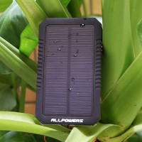 Solar Power Bank 12000mAh Dual USB Portable Solar Charger Panel for mobile phone, iphone, Samsung, ipad and more