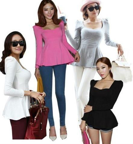 Instyles 2013 NEW LADIES SPRING LONG SLEEVE SEXY & SWEET BLOUSE FOR TOPS best clothing Clothing