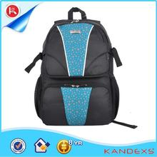 Trendy style wholesale good quality designer laptop rolling backpack with beautiful picture on front part