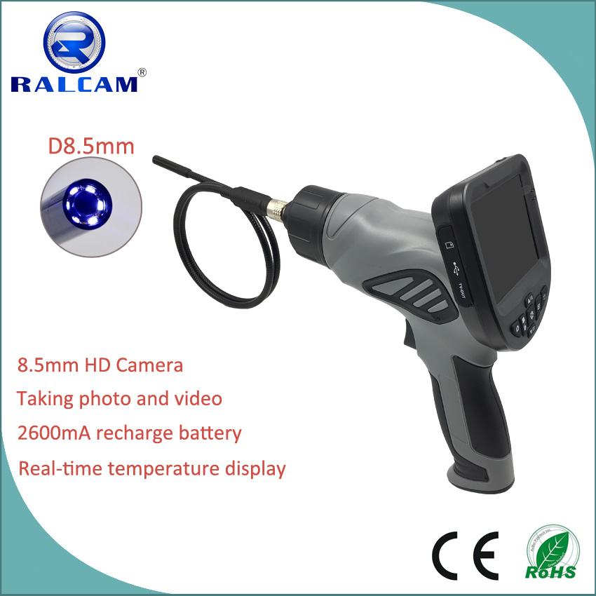 automatic power-off at 76 degree celsius handheld gun borescope for automotive combustion chamber